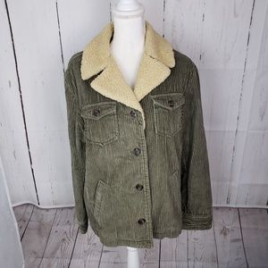 J Crew Corduroy Quilted Insulated Jacket Coat